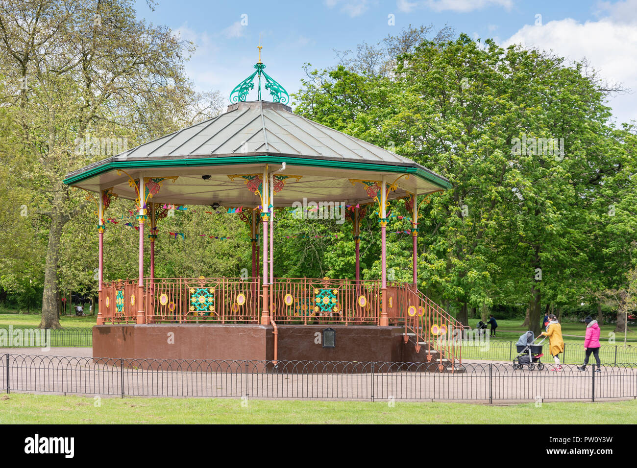 The Bandstand, Queen's Park, London Borough of Brent, Greater London, England, United Kingdom - Stock Image