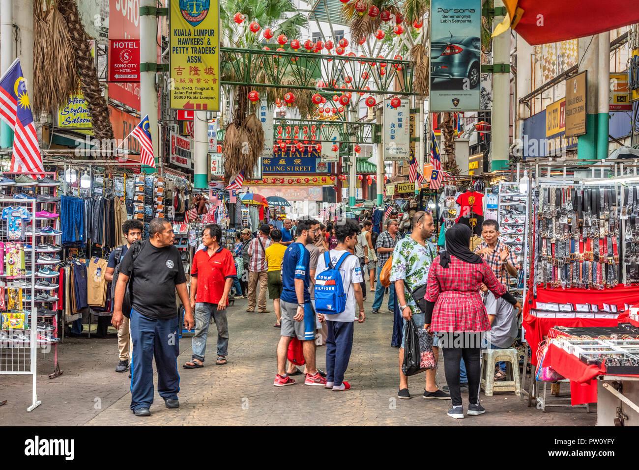 Petaling Street, Chinatown, Kuala Lumpur, Malaysia - Stock Image