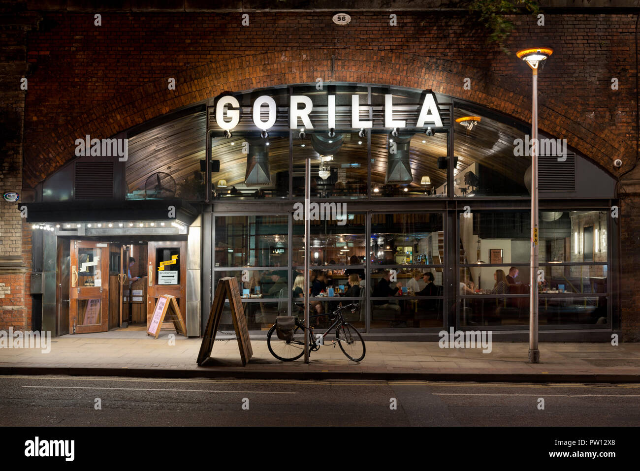 Gorilla bar located on Whitworth Street in Manchester city centre, UK. - Stock Image
