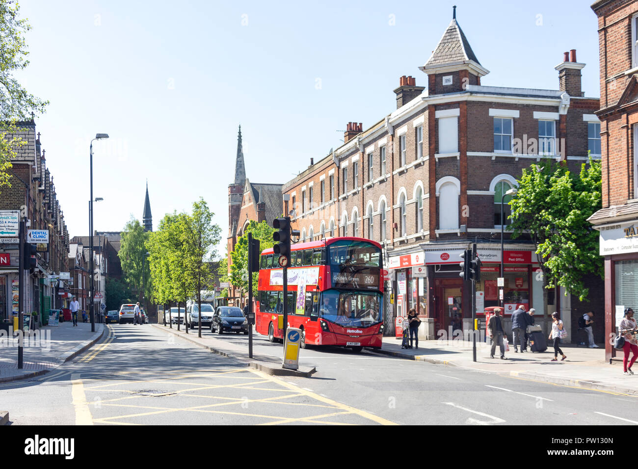 High Road, Willesden, London Borough of Brent, Greater London, England, United Kingdom - Stock Image