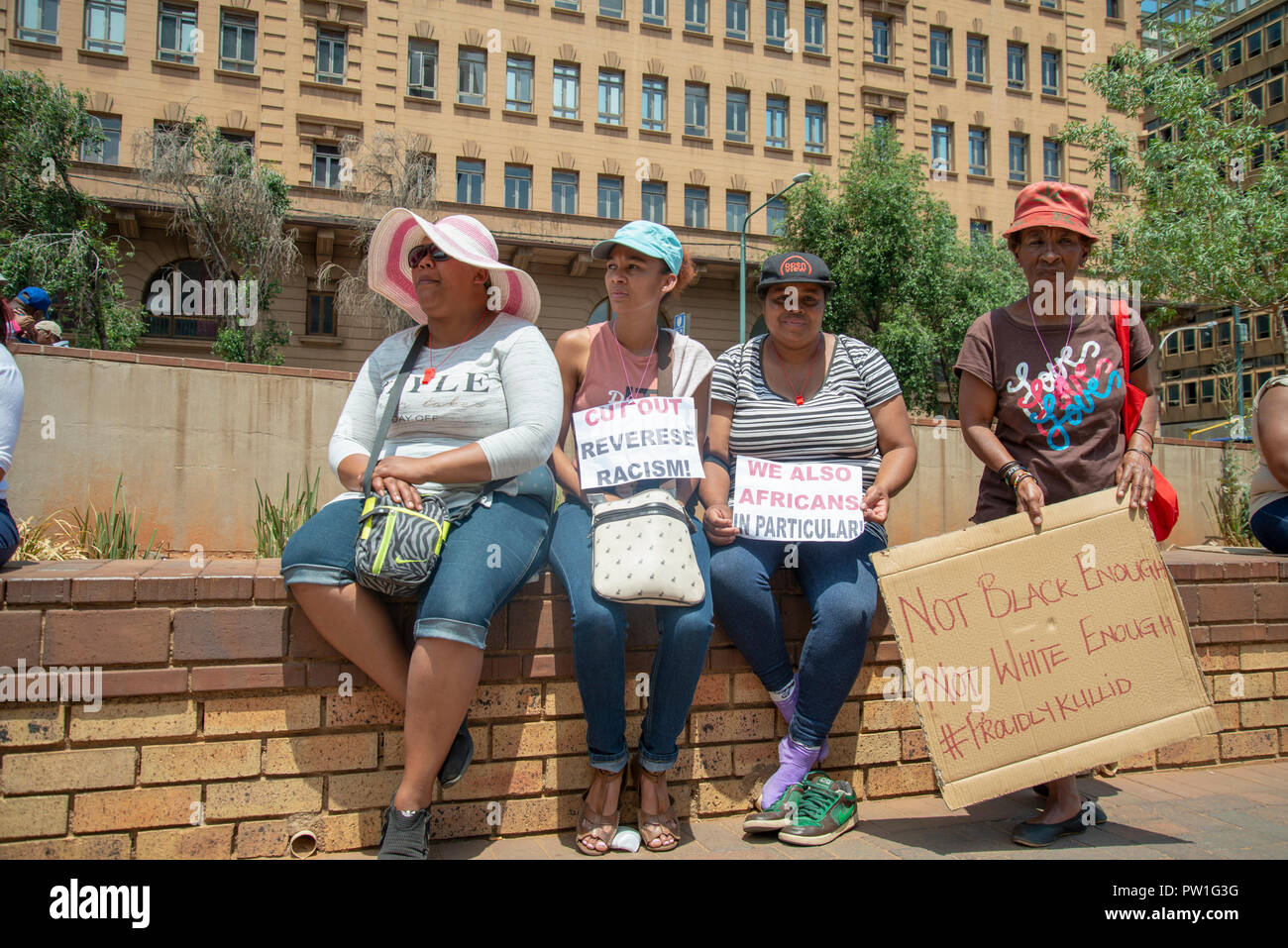 Johannesburg, South Africa, 12 October, 2018  Members of