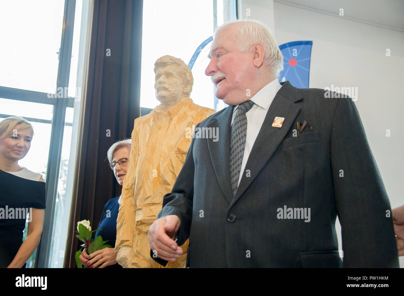 Lech Walesa during the celebration of his 75th birthsday in Gdansk, Poland. September 29th 2018 © Wojciech Strozyk / Alamy Stock Photo - Stock Image