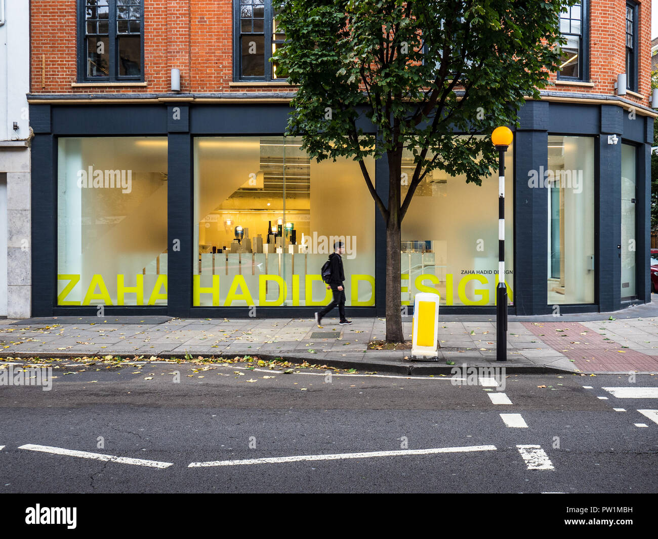 Zaha Hadid Design Store in Goswell Road, Clerkenwell, London Stock Photo