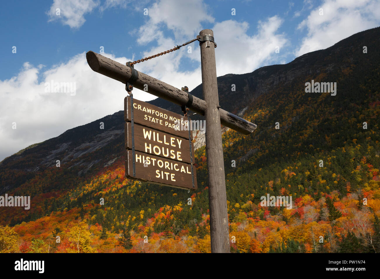 Crawford Notch, White Mountain National Forest, New Hampshire, USA Stock Photo