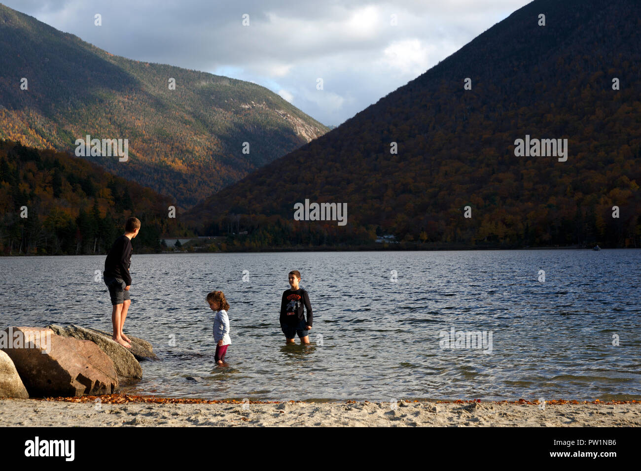 Family Echo Lake Franconia Notch White Mountain National