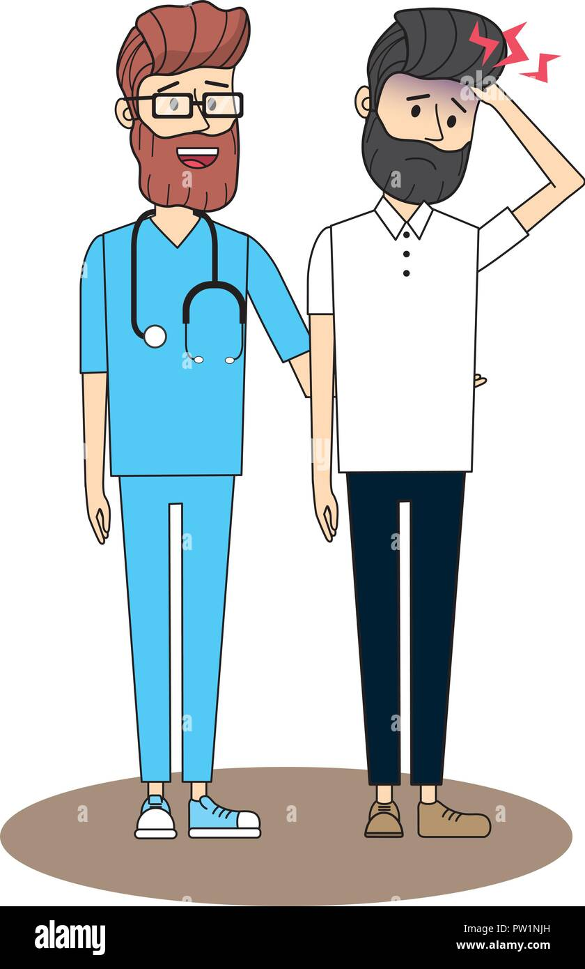 Doctor with patient - Stock Vector