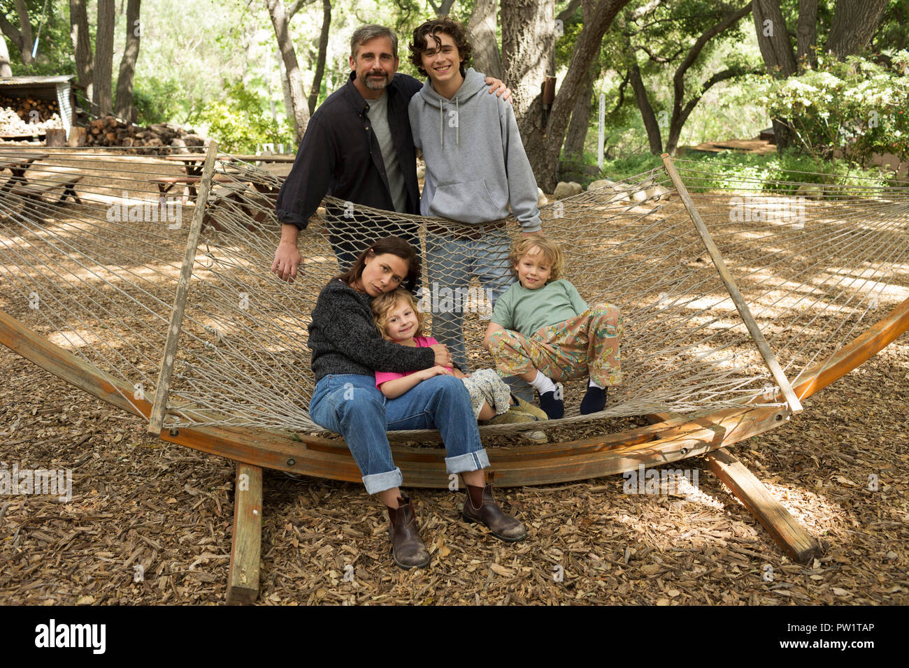 RELEASE DATE: October 12, 2018 TITLE: Beautiful Boy STUDIO: Amazon Studios DIRECTOR: Felix Van Groeningen PLOT: Based on the best-selling pair of memoirs from father and son David and Nic Sheff, Beautiful Boy chronicles the heartbreaking and inspiring experience of survival, relapse, and recovery in a family coping with addiction over many years. STARRING: Steve Carell, Maura Tierney, TimothŽe Chalamet, Oakley Bull, Christian Convery. (Credit Image: © Amazon Studios/Entertainment Pictures) - Stock Image