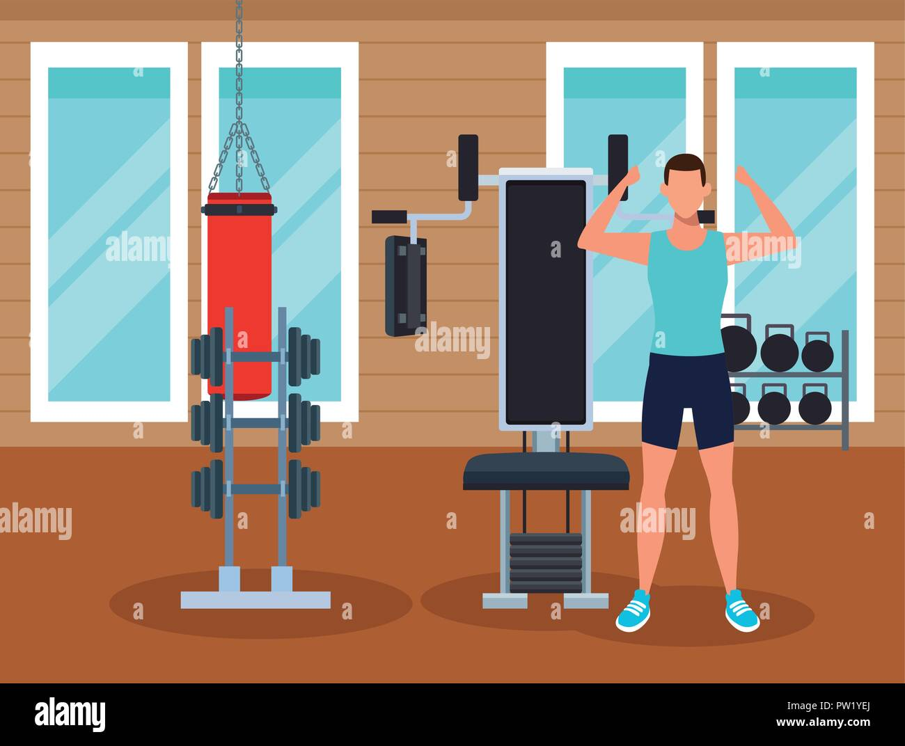Gym room illustration images stock photos vectors shutterstock