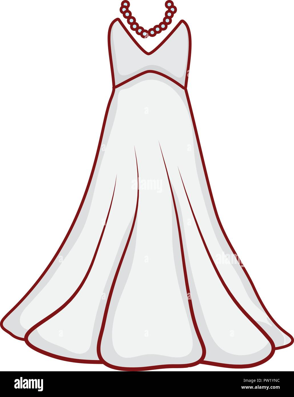 Wedding Dress Stock Vector Images Alamy