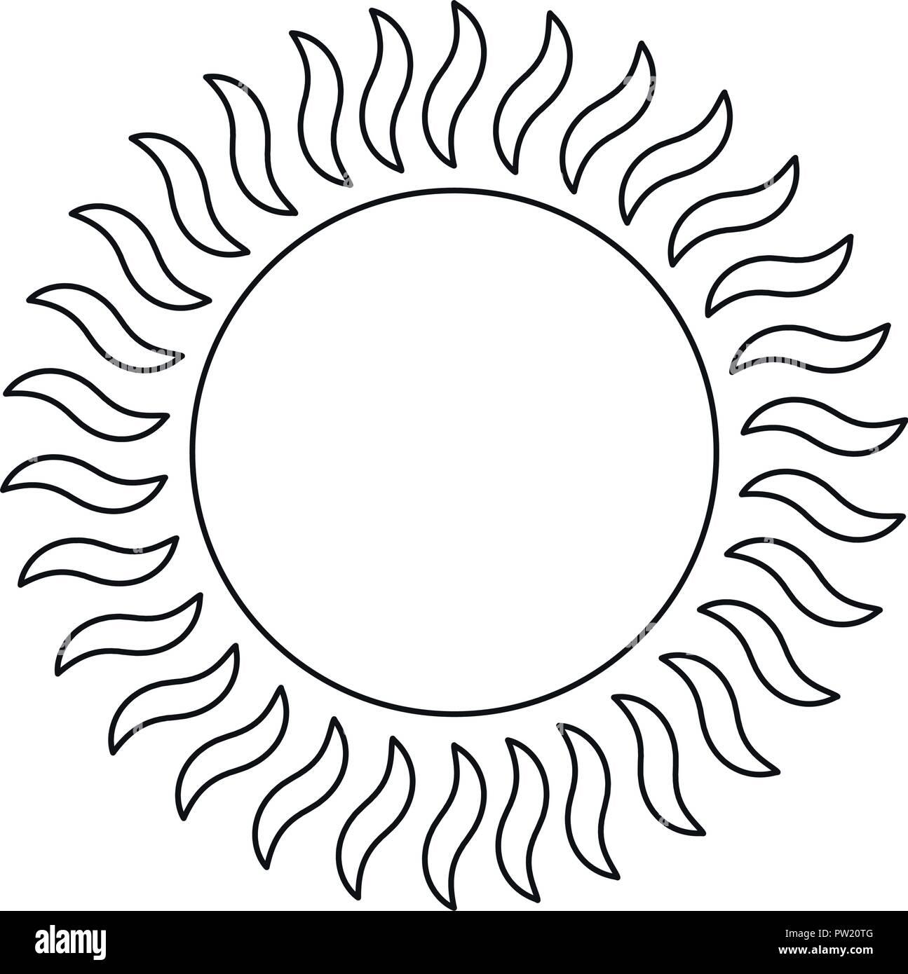 glowing sun summer hot image vector illustration - Stock Vector