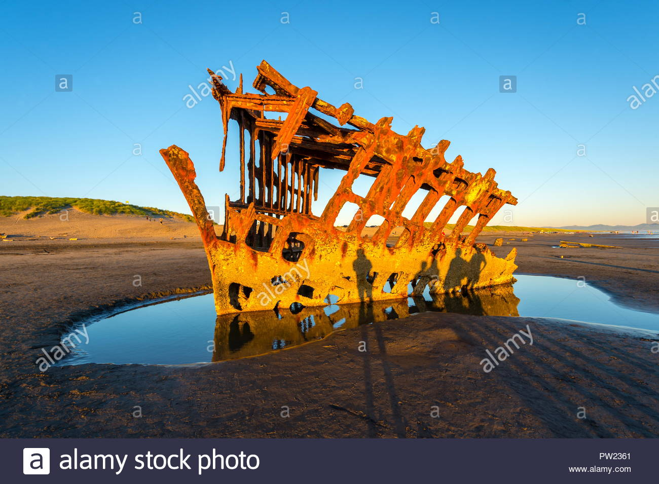 Peter Iredale Shipwreck on Oregon Coast, Oregon-USA - Stock Image
