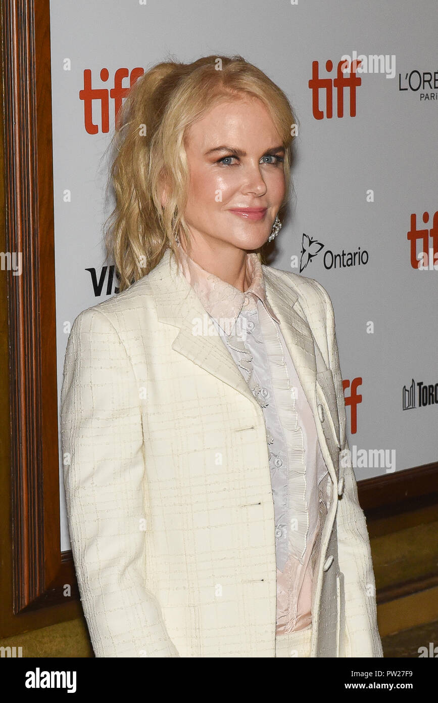 43rd Toronto International Film Festival - Destroyer - Premiere  Featuring: Nicole Kidman Where: Toronto, Canada When: 10 Sep 2018 Credit: Jaime Espinoza/WENN.com Stock Photo