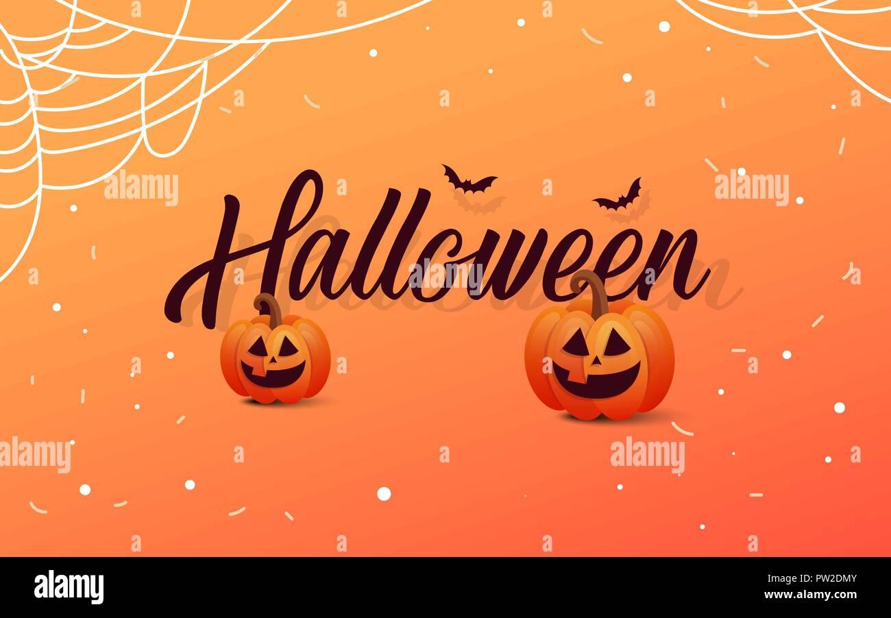 halloween template banner. happy halloween message design background