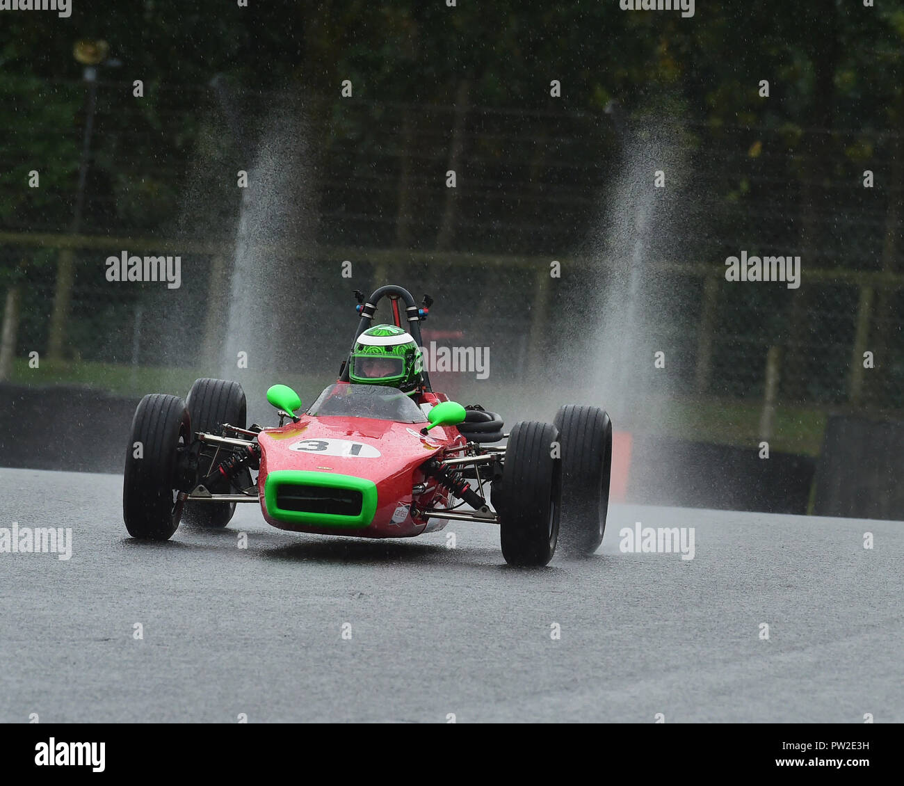 John Emery, Lola T200, Historic Formula Ford, HFF, HSCC, Historic Race Meeting, Brands Hatch, September 2018, cars, Classic Racing Cars, Historic Raci - Stock Image