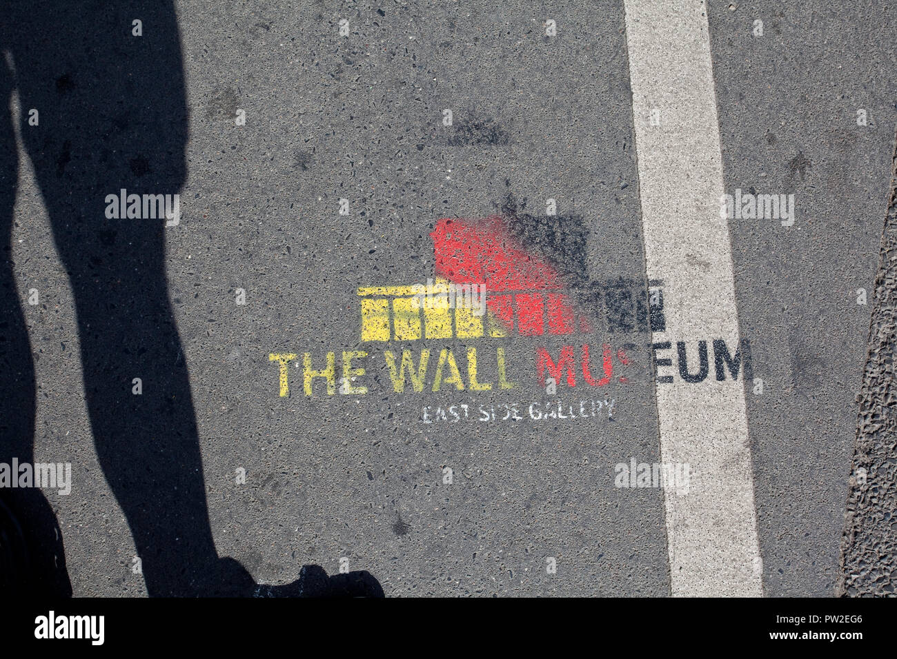 East Side Gallery, The Wall Museum, Berlin - Stock Image