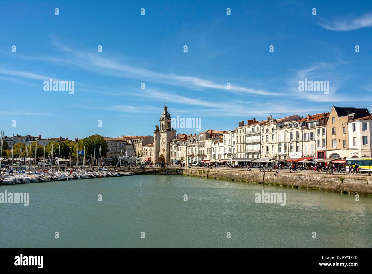 The old port (Vieux Port) of La Rochelle, Charente-Maritime,  Nouvelle-Aquitaine, France - Stock Image