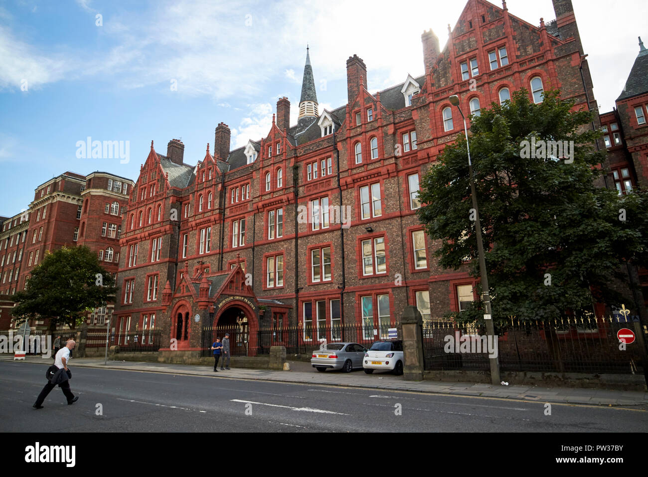 The Old Royal Infirmary now brownlow group practice building Liverpool Merseyside England UK - Stock Image