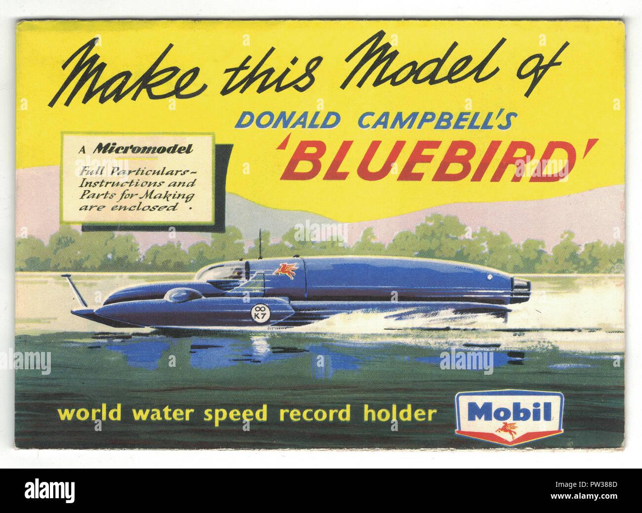 Donald Campbell's Bluebird car, make your own model Bluebird, circa 1956 - Stock Image