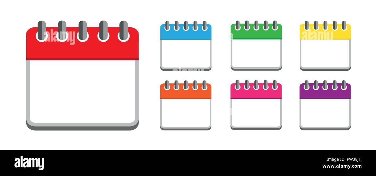 Small Calendar Symbol Icon Vector Illustration Stock