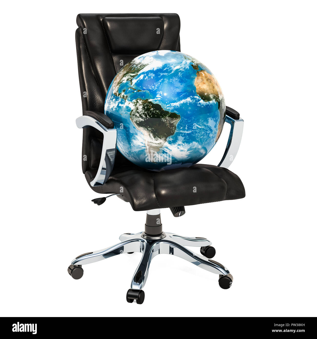 Pleasing Office Chair With Earth Globe Concept 3D Rendering Isolated Inzonedesignstudio Interior Chair Design Inzonedesignstudiocom