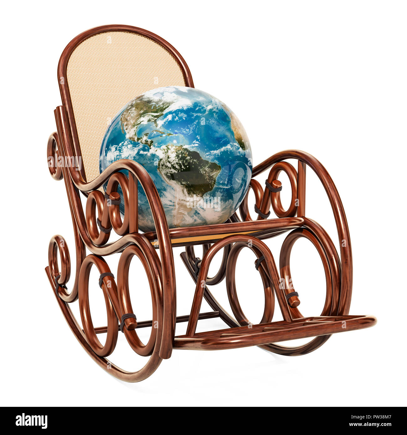 Prime Rocking Chair With Earth Globe 3D Rendering Isolated On Inzonedesignstudio Interior Chair Design Inzonedesignstudiocom