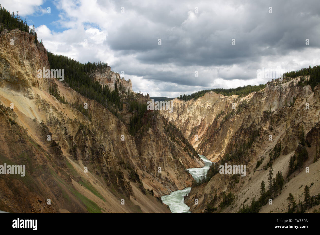 Grand Canyon of Yellowstone - Stock Image