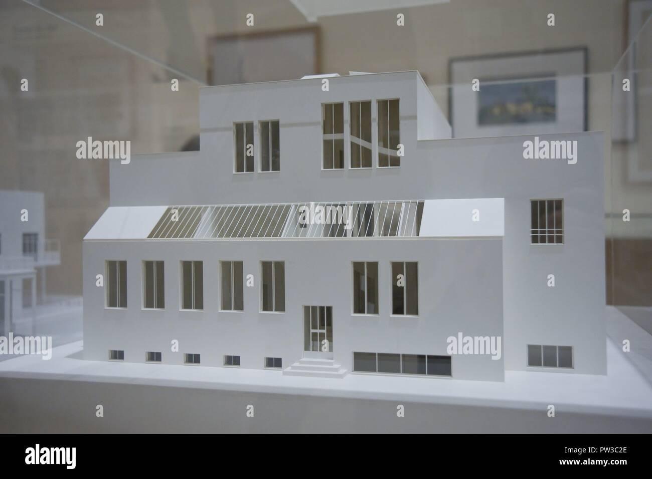 Wien, Haus Stonborough-Wittgenstein, Ludwig Wittgenstein 1926-1928, Modellaufnahme - Stock Image