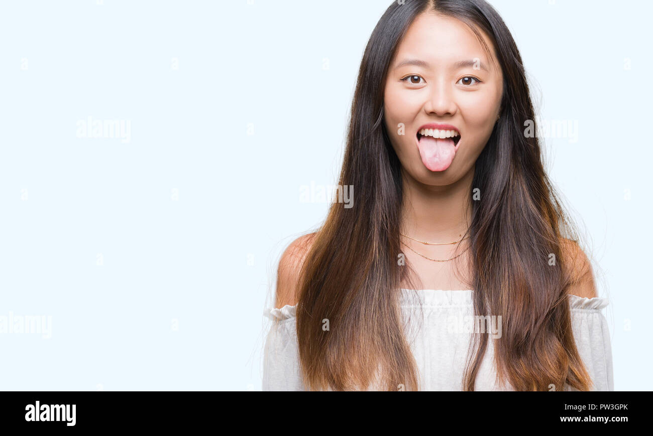 Hot asian women tongue out — pic 15