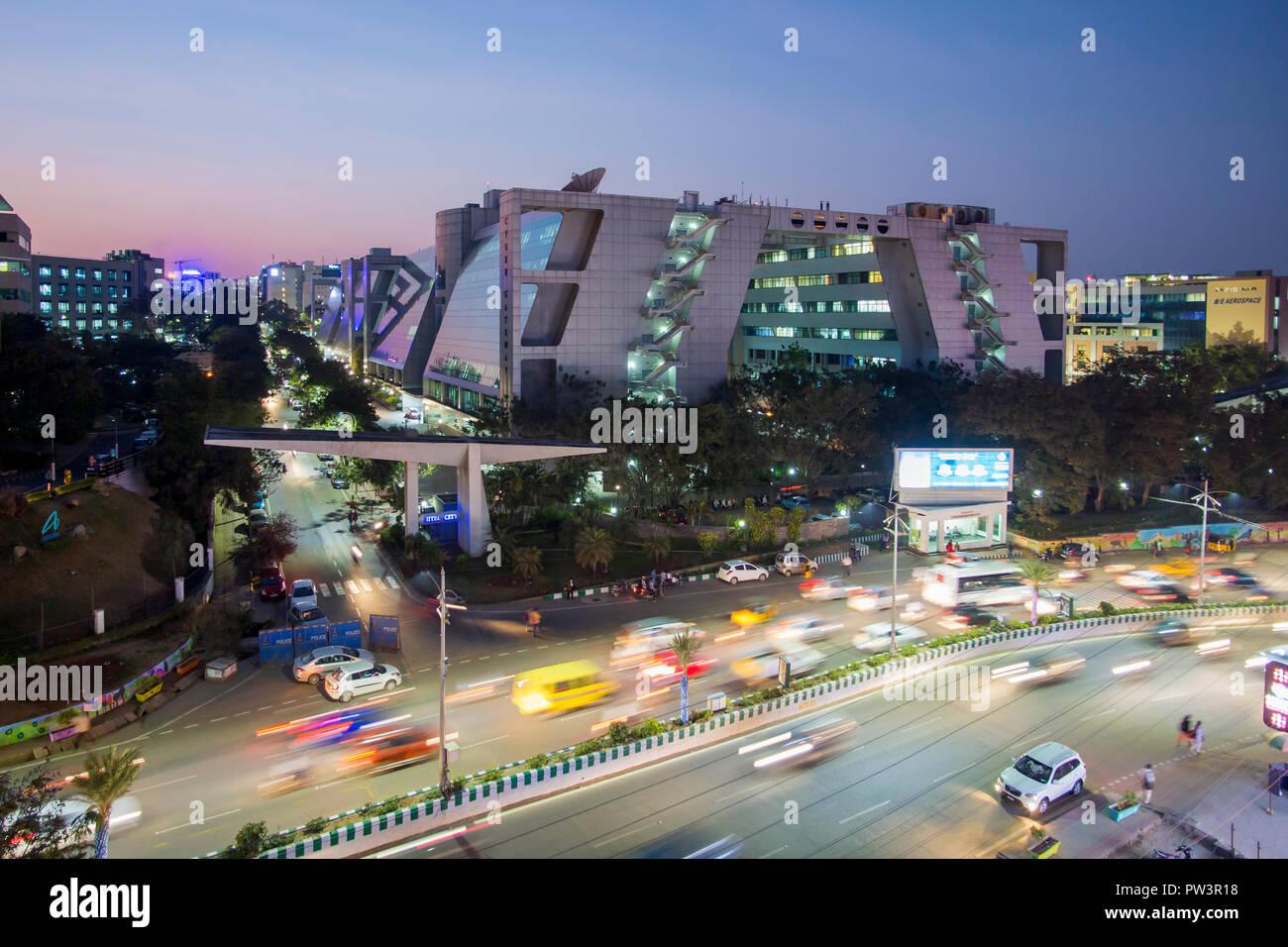 India, Hyderabad, capital of Telangana State, (Andhra Pradesh), Hi Tech City, India's IT centre Stock Photo