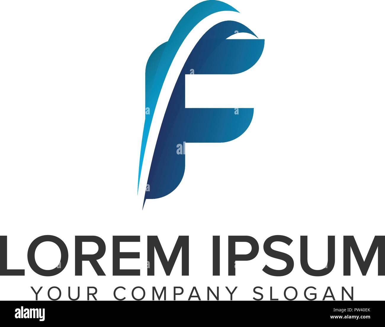 cative modern letter f logo design concept template fully editable