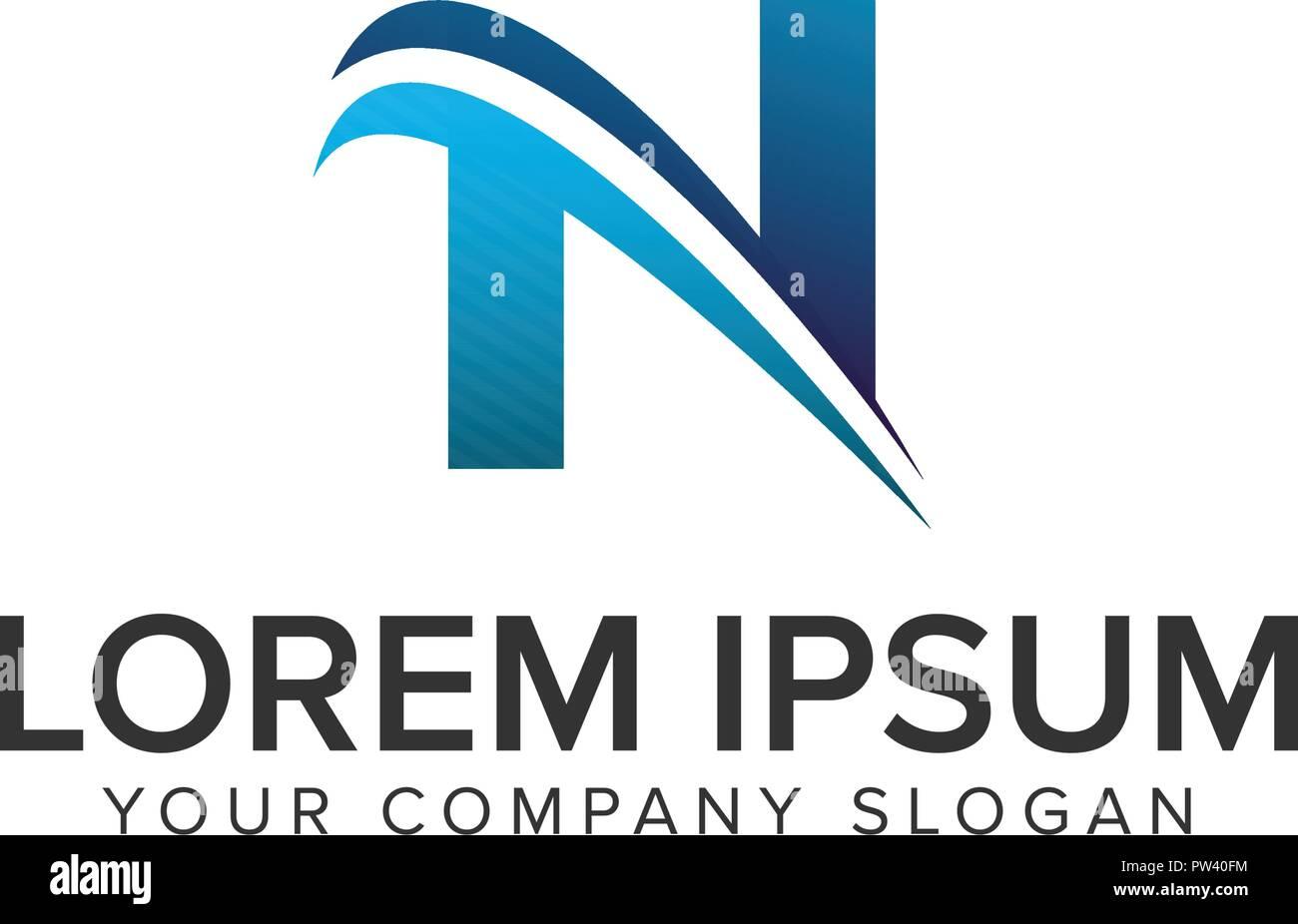 cative modern letter n logo design concept template fully editable vector