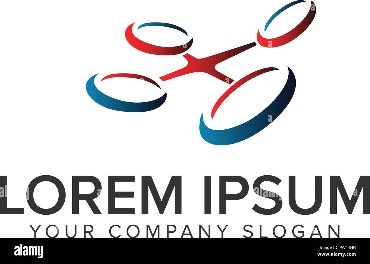 drone logo design concept template. fully editable vector - Stock Image