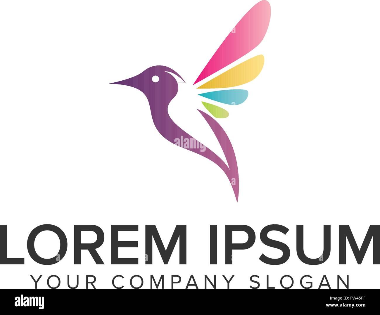 soft multicolor bird logo design concept template fully editable