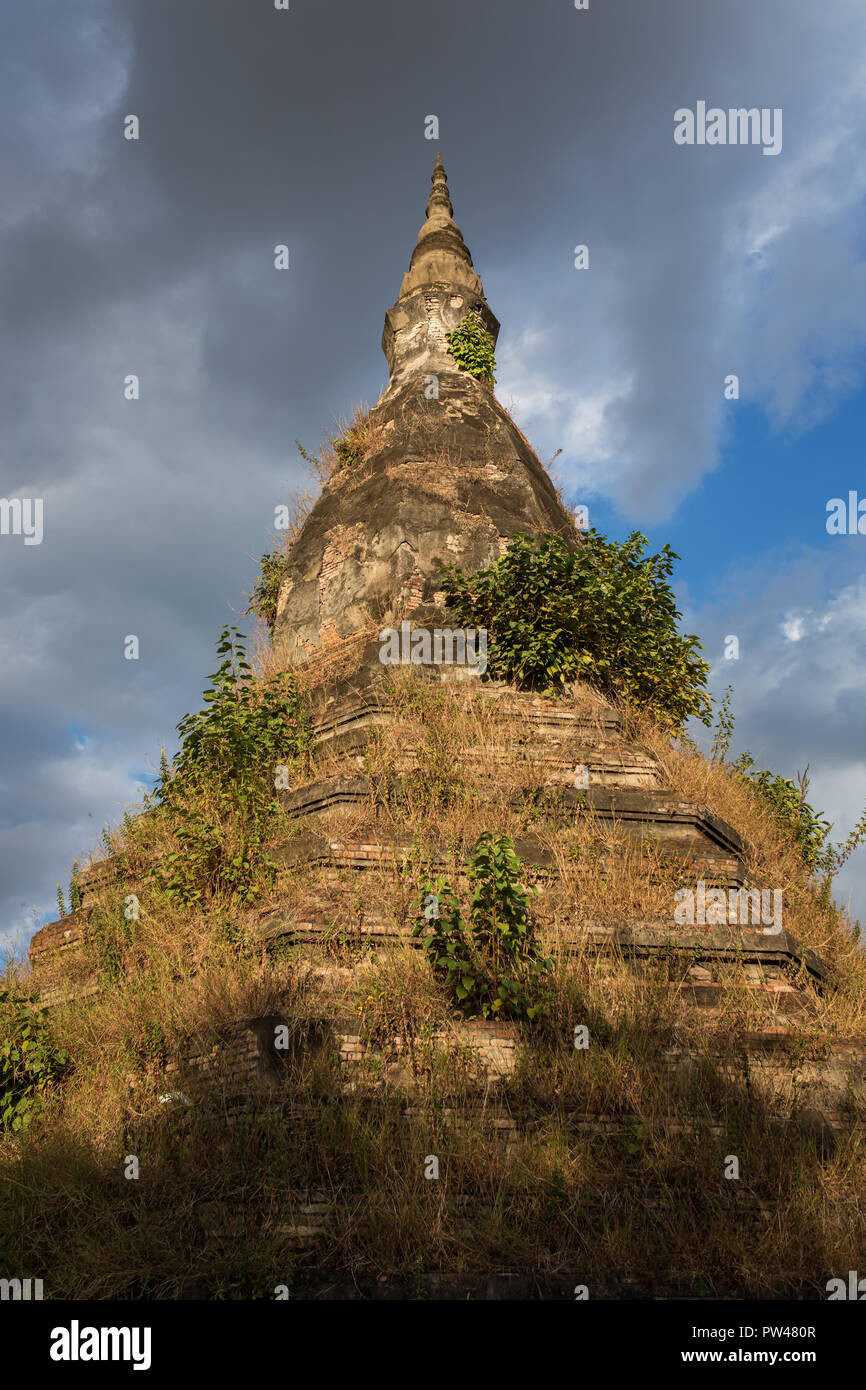 Black Stupa, That Dam in Vientiane, Laos - Stock Image