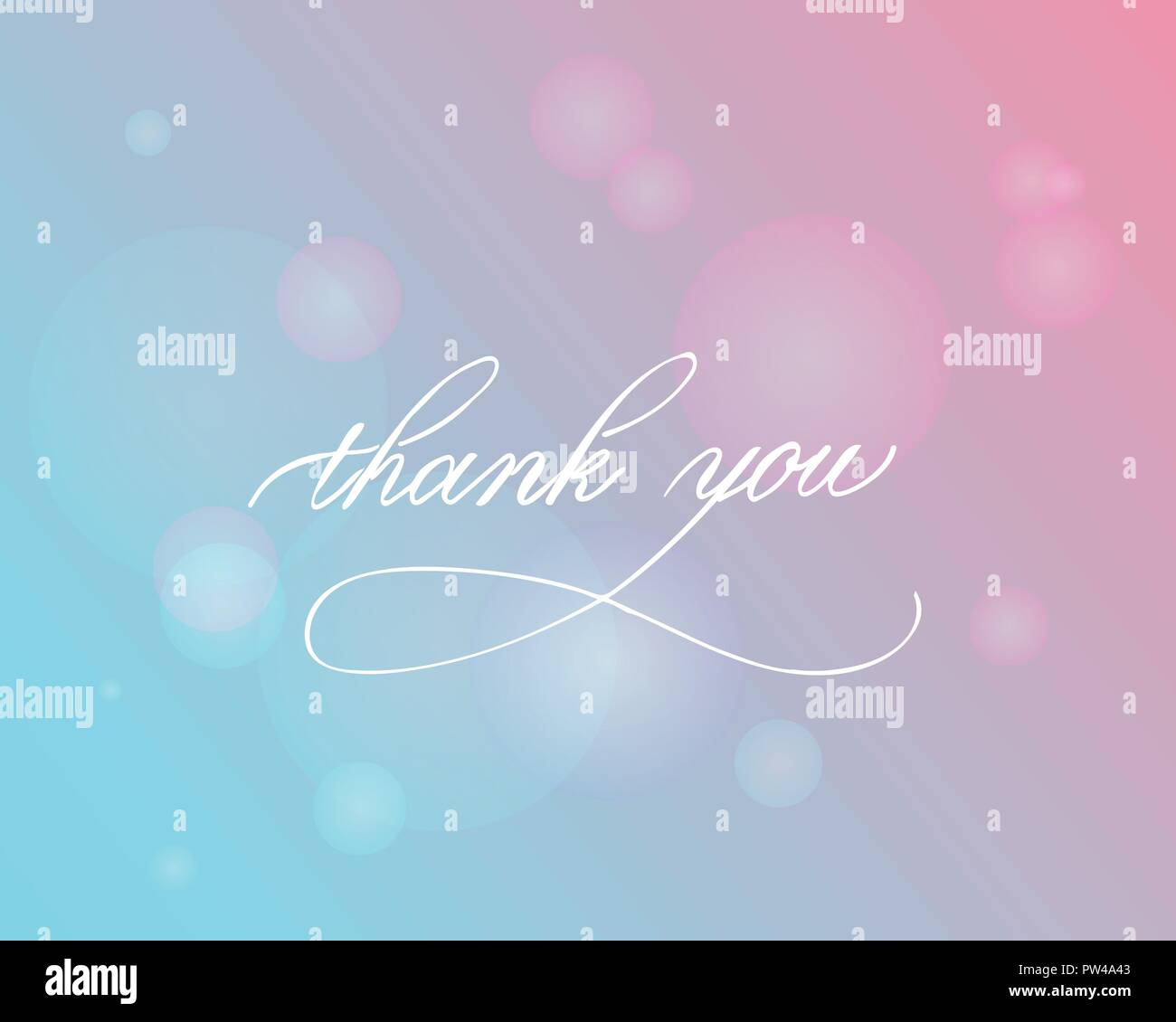 Thank you - hand lettering inscription to holiday design, black and white ink calligraphy - Stock Vector
