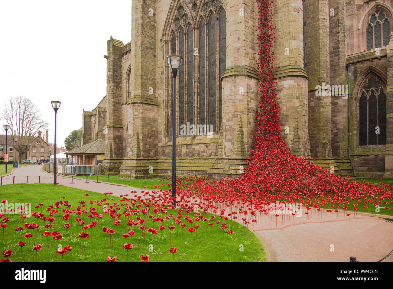 Weeping window, Hereford Cathedral - Stock Image