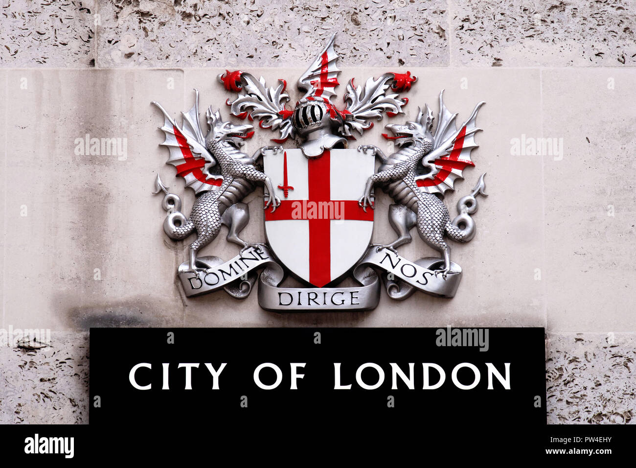 Coat of arms of the City of London - Stock Image