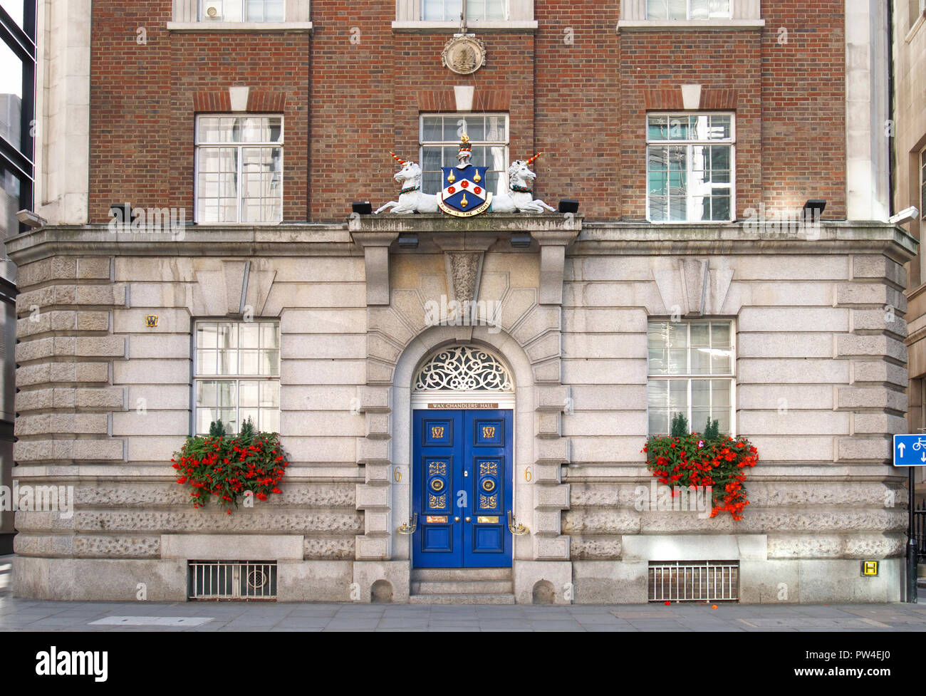 The Wax Chandlers' Hall, Gresham Street, London - Stock Image