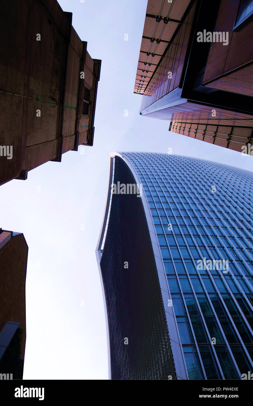 The Walkie-Talkie building - 20 Fenchurch Street - London - Stock Image
