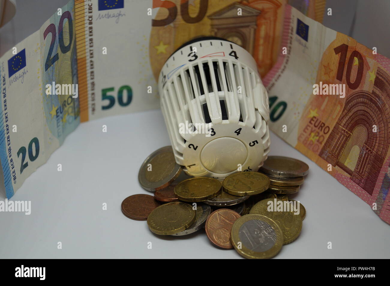 heating costs / energy costs - Stock Image