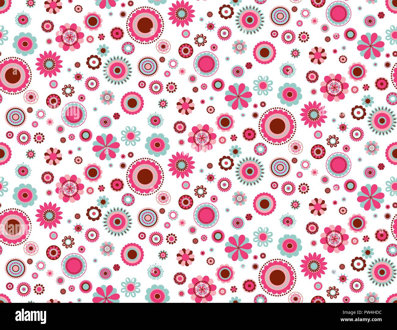 Vector Colorful Abstract Flowers Seamless Pattern On White Background Perfect For Fabric Quilting Scrapbook Paper Wallpaper And Crafts Stock Vector Image Art Alamy
