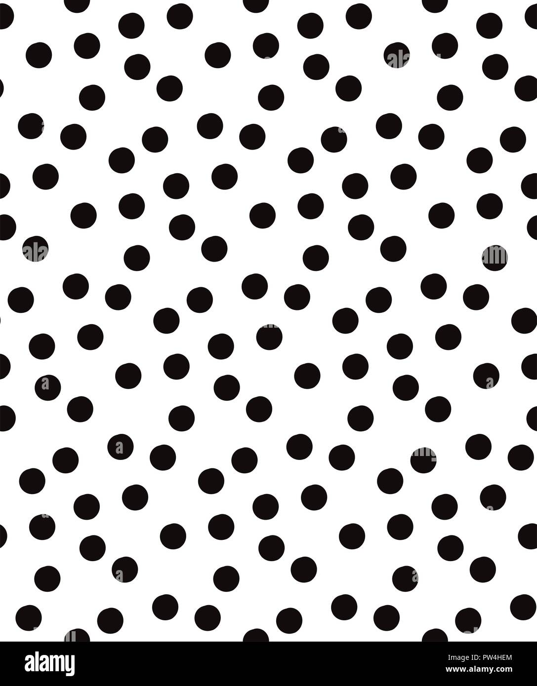 vector black polka dots seamless pattern on white background rh alamy com perfect black and white cat names black and white perfect combination