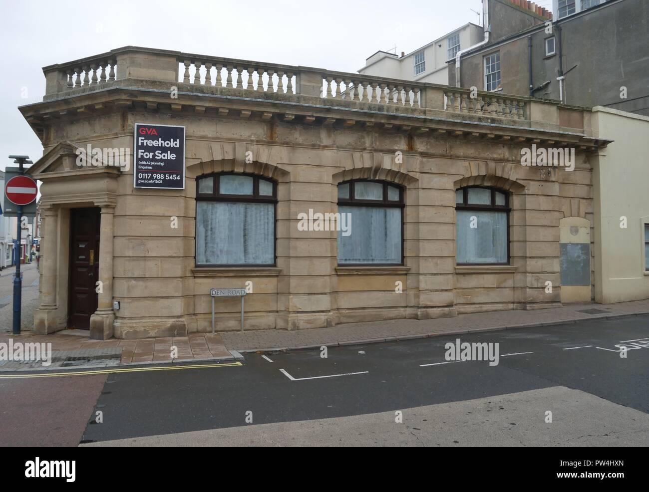 Bank branch closure Stock Photo