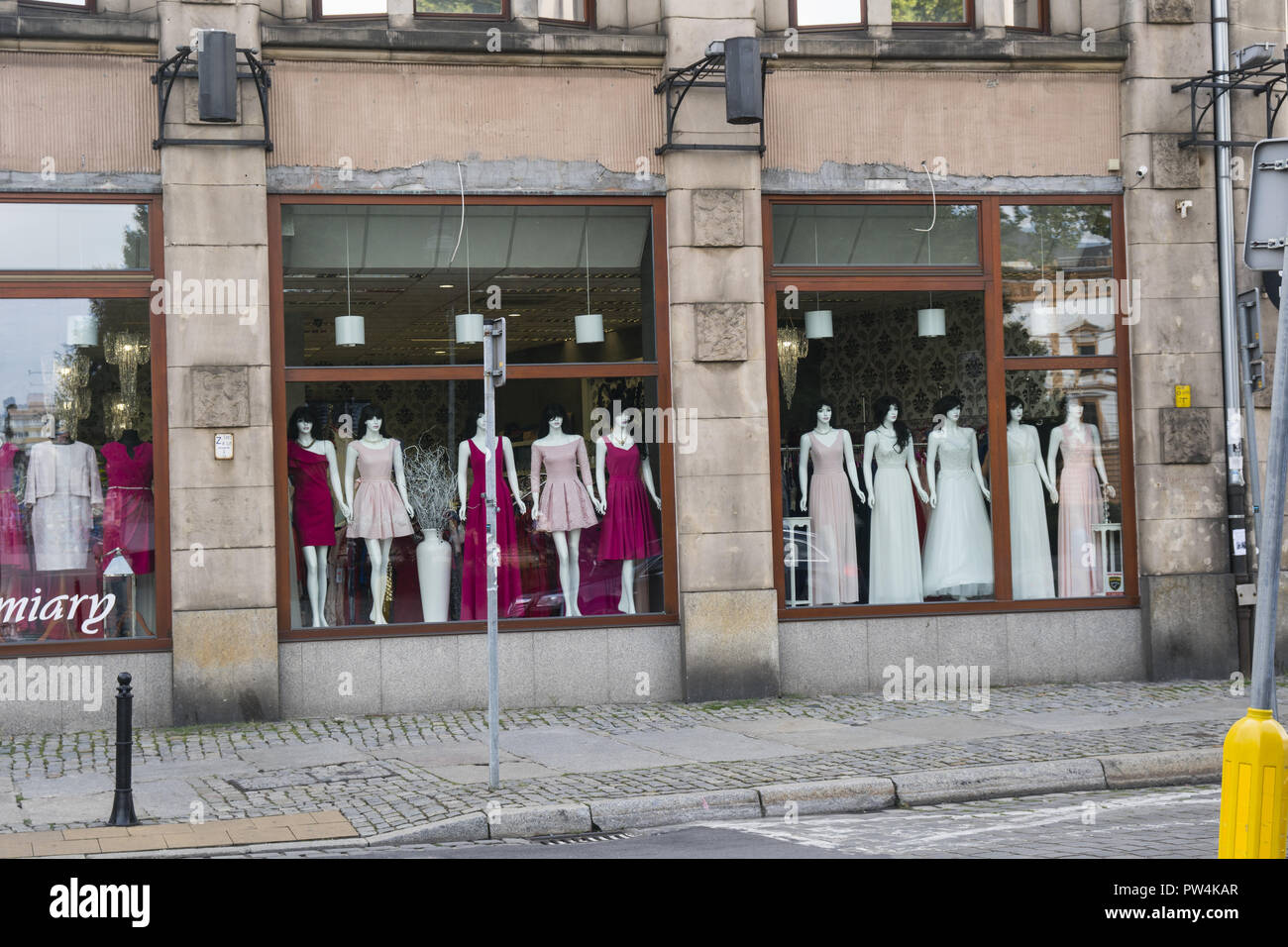 a2f62f849 Womens Clothes In A Shop Window Display Stock Photos   Womens ...