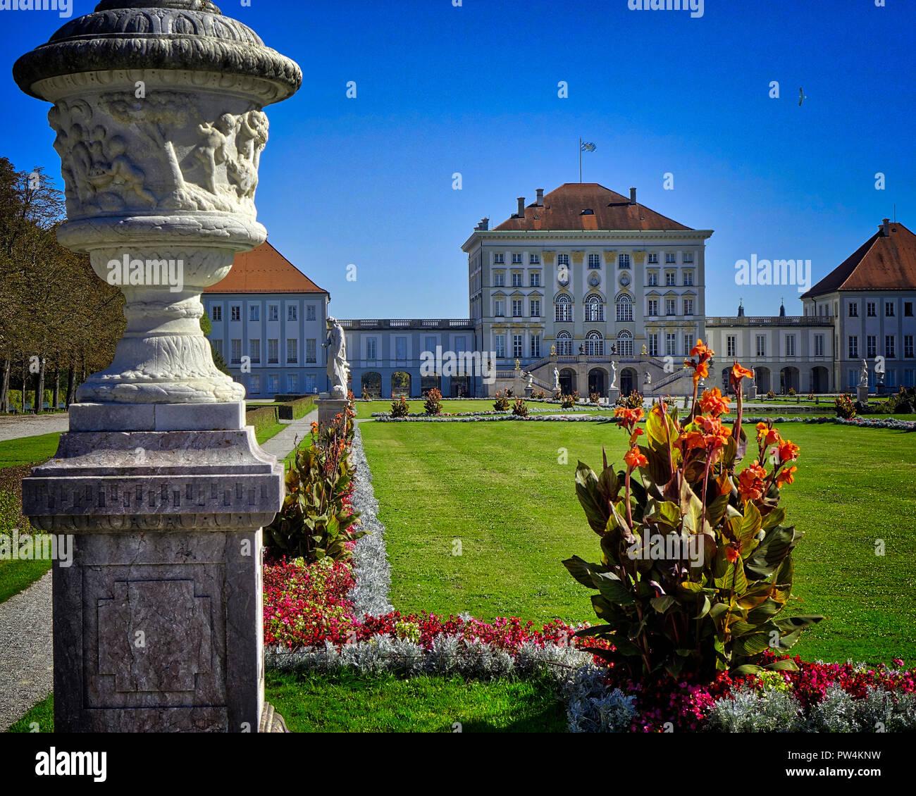 DE - BAVARIA: Nymphenburg Castle at Munich  (HDR-image) - Stock Image