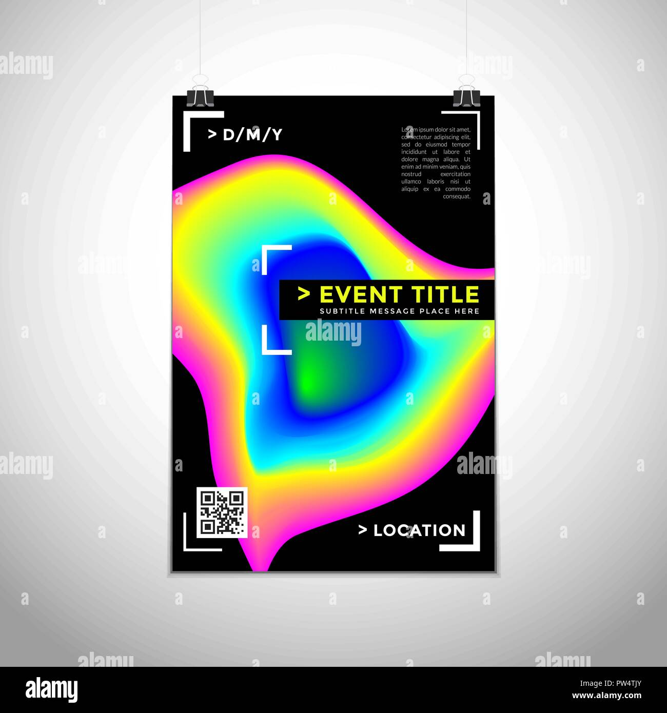 vector vibrant gradient colors abstract shapes dynamic modern poster design template trendy brochure mockup invitation flyer layout minimal creative d