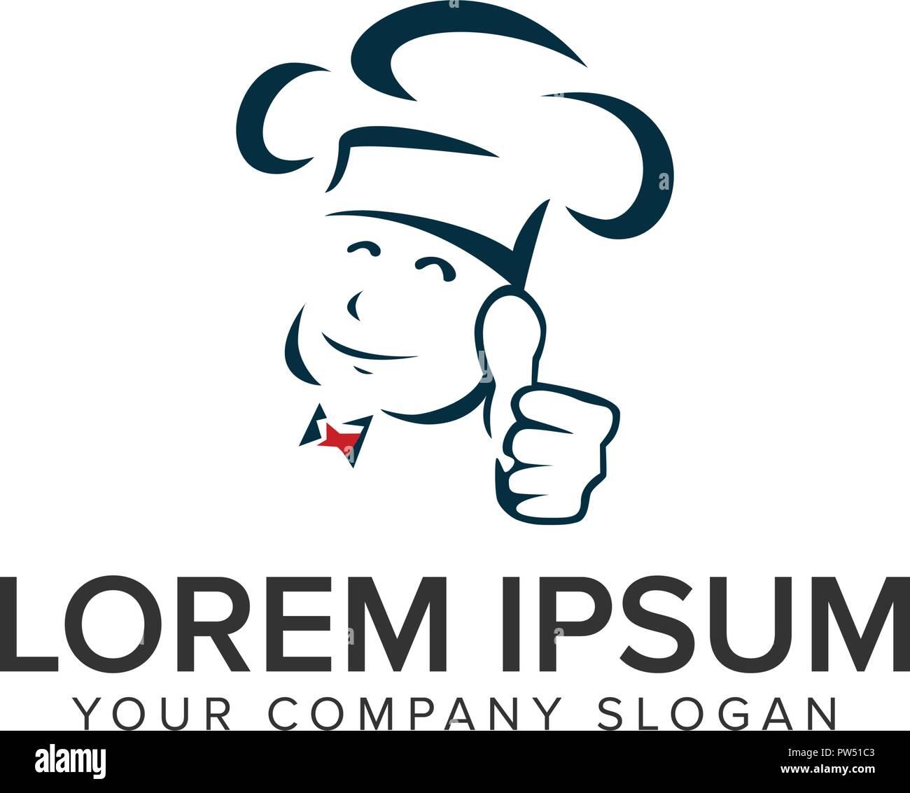 top chef logo design concept template. fully editable vector - Stock Vector