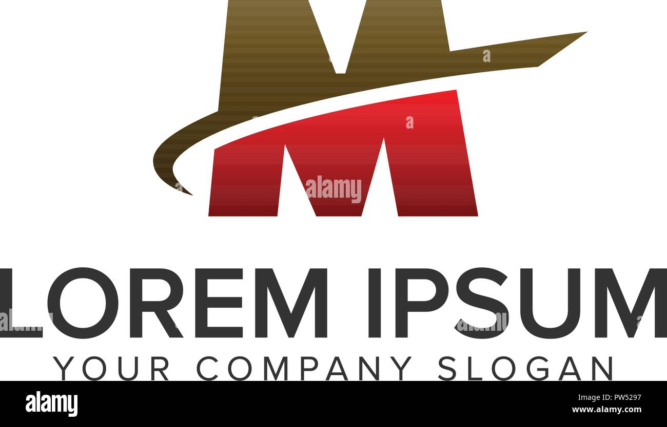 Letter M Motion Logo Design Concept Template Fully Editable Vector
