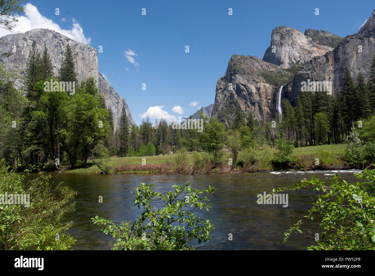 Yosemite Valley. Merced River - Stock Image