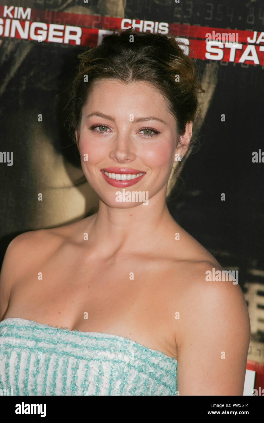 """Jessica Biel  09/09/04 """"Cellular"""" Premiere  @  Cinerama Dome, Hollywood Photo by Kazumi Nakamoto/Hollywood News Wire File Reference # 33683 496HNWPLX Stock Photo"""